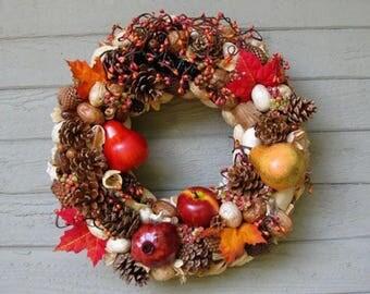 Christmas Door Wreath Wieniec Ozdobny