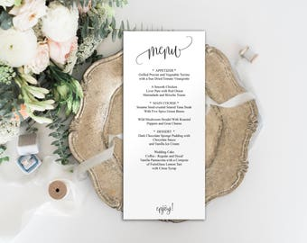 Editable Menu Template, Wedding Menu Template, Editable Menu, Wedding Menu, Menu Template, Wedding Template, Menu Printable, Dinner, BD6022