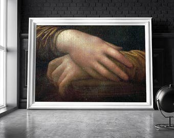 Mona Lisa's hands / Mona lisa print / Mona lisa poster / Mona lisa art print / Mona lisa decor / Mona lisa wall art / Mona lisa art poster