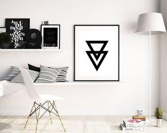 Minimalist Printable Poster, printable black and white wall art, Hipster Home Decor, boho home decor, dorm room decor, digital print