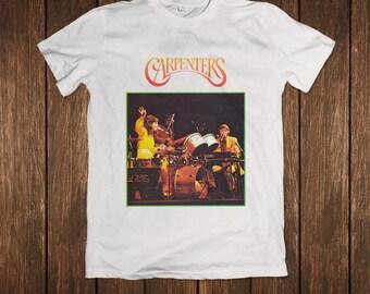 The Carpenters Gem Music Album Cover (Japan Release) Singing White T-shirt