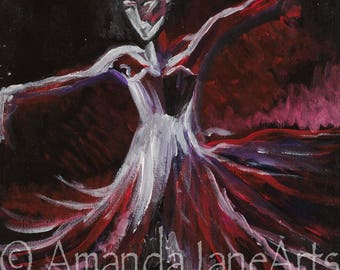 Ballerina, dancer, painting, picture, acrtlic, print, art, abstract,gift