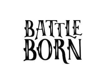 Battle Born Text - The Killers Temporary Tattoo
