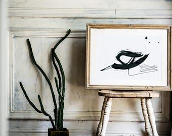 Print A4 vintage flying bird//spot//Landscape//ink//Digital printing