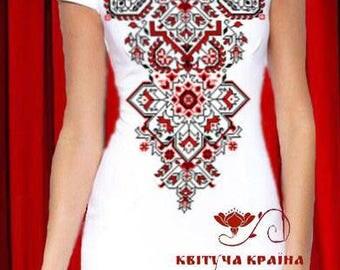 Ukrainian embroideryUkrainian vyshyvanka dressBeaded dressEmbroidered dressDesigner embroideryWhite dressModern embroideryUkrainian ornament