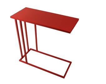 SEE Table Side Table Carryable Versatile Accent Table. Modern Side Table.  All Metal