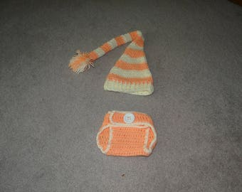 Newborn Hat and Diaper Cover Set