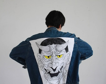 Customized Jean jacket / / hand painted