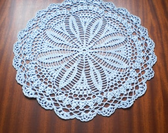 Crochet Doily.Round lace napkin. Large napkins are knitted.Napkins crocheted. Cotton wipes. Knitted tablecloths.Home decor.
