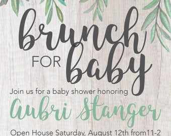 Brunch for Baby Shower Invite