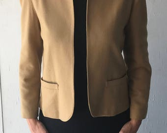 1970's Patty Woodard California Women's Blazer | Vintage Women's Blazer Jacket | Women's Tan Blazer