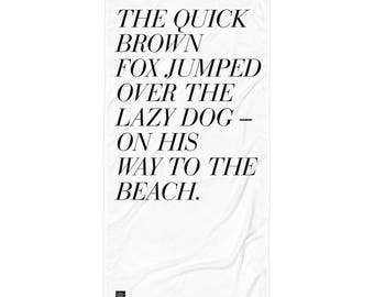 The Quick Brown Fox Beach Blanket