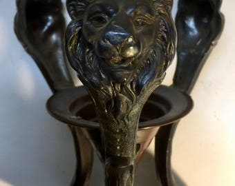 Art Deco Frankhart Lion Lamp Base 1930