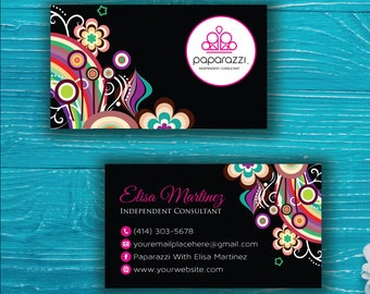 Paparazzi Business Card, Custom Paparazzi Accessories Business Card, Fast Free Personalization, Printable Business Card PP40