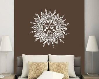 Mandala Wall Decor mandala wall decal | etsy