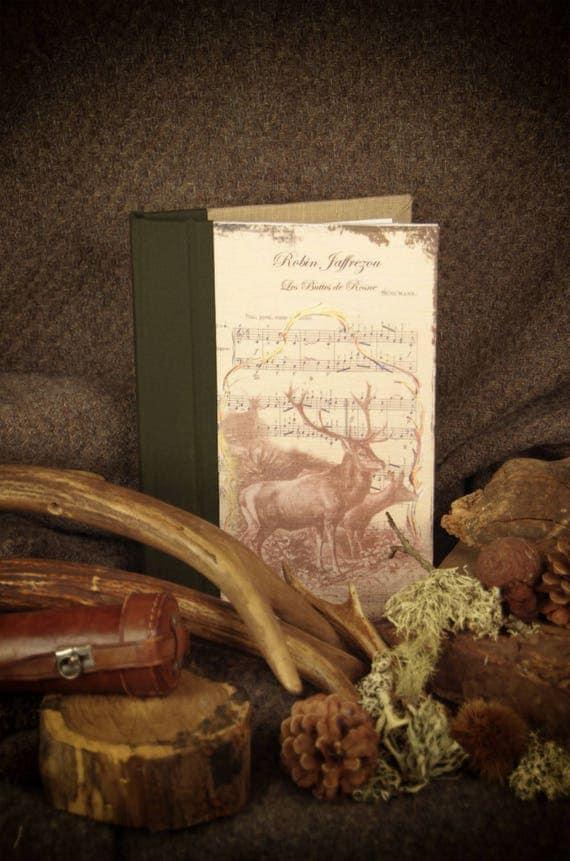 """Deer hunting custom """"Deer and her deer"""" notebook Huntress Hunter hunting hunting hunting wood"""
