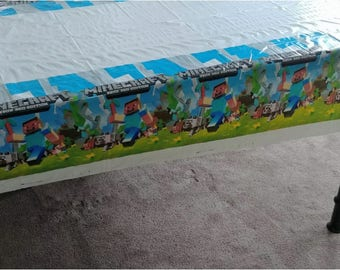 "Minecraft Birthday Party Plastic Table Cover 42""x72"" ~ Party Supplies Decorations"