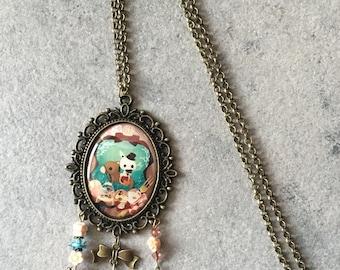 Necklace fairy magic rabbit