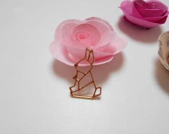 1 origami rabbit pendant ligth 24 x 16 mm