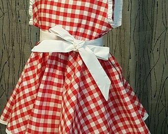 Gingham dress.  HAND MADE