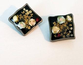Dried Flower Resin Earrings