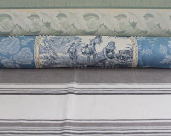 COVER bottom door toile de Jouy - ticking - fabric linen and lace