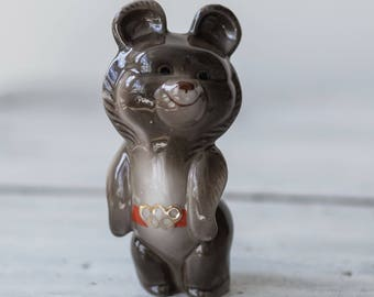 Porcelain figurine of the Olympic bear 1980