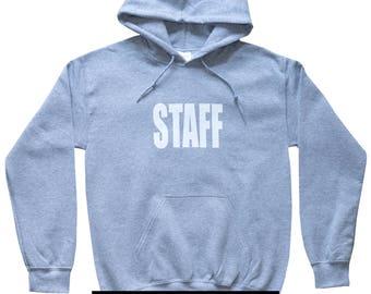 Unisex Staff Hoodie Justin Bieber style Hooded Sweatshirts Unisex Hoodie Staff Gray Hoodie