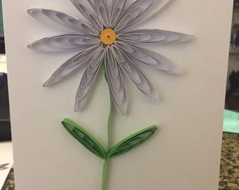 Flower Quilled Blank Greeting Card