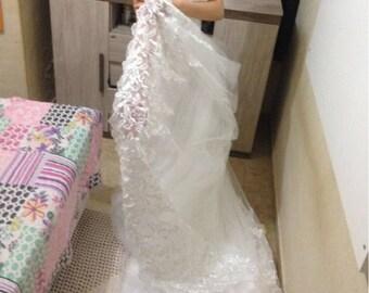 2017 Celebrity Strapless Ball Organza Lace Vintage Lamya 0.8M Court Train Dress Tulle Bridal wedding dress
