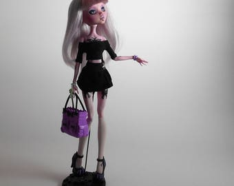 OOAK Custom Monster High Doll, Draculaura, Pastel Goth