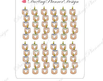 Candle Checklist Stickers for Planners