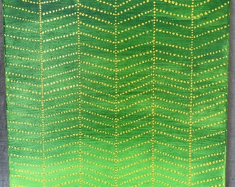 """ORIGINAL acrylic painting on 12""""x 12"""" canvas 'Gold Forest' // back to school // modern home"""
