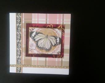 Butterfly greeting card blank inside