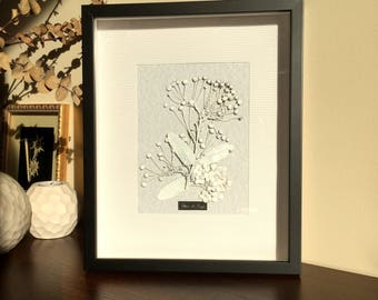 White Cherry - Floral composition from dried flowers