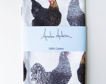 Multi Chicken Tea Towel