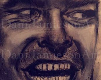 Custom MADE TO ORDER: Charcoal/Graphite Horror Film Portraits