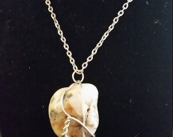 Wire wrapped AGATE pendant (LARGE)