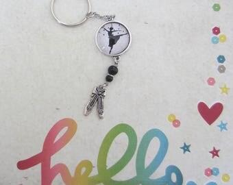 """Key holder or bag charm """"Ballet dancer"""""""