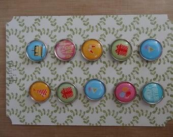 10 brads birthday theme / 10 Brads on the birthday theme