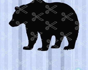 Bear SVG, PNG, DXF, Eps Cutting Files, baby bear svg, papa bear svg, mama bear svg, bear family svg, brother bear svg, sister bear svg