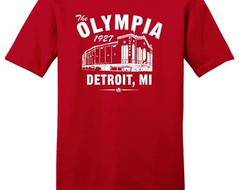The Olympia 1927 Hockey Tee Shirt - Past Home of Your Detroit Red Wings