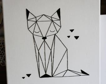 Geometric Fox, origami