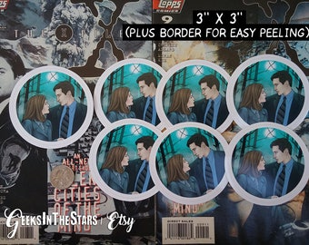 "XFiles | From the beginning | 3""x3"" vinyl sticker"