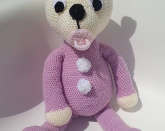 Stuffed plush teddy bear Pajamas - Amigurumi crochet