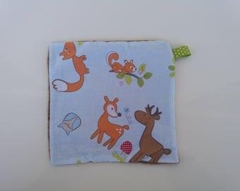 Flat animals baby blanket. Birthstone gift idea / baby gift.