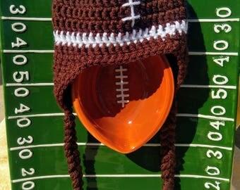 Crochet Football Hat - Football Beanie - Baby Shower Gift - Football Photo Prop