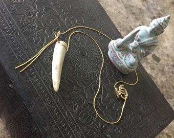 Antler Pendant on 10K Gold Necklace