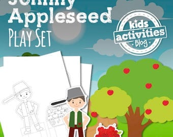 Johnny Appleseed Printable Play Set for Preschool