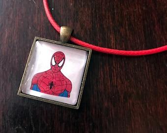 Spiderman/Peter Parker original fan art pendant necklace!